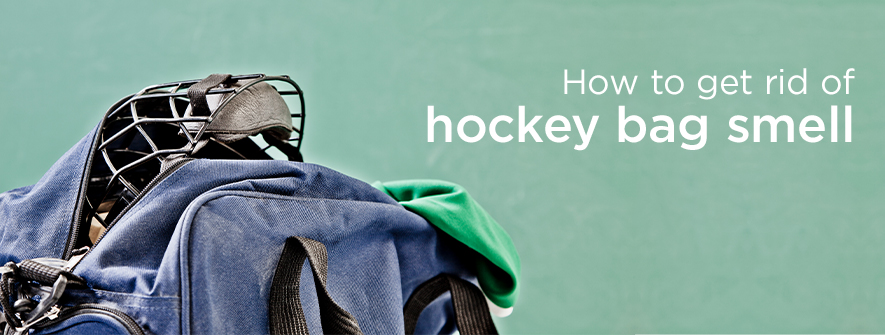 Smelly Hockey Bag and Equipment Stacked Up