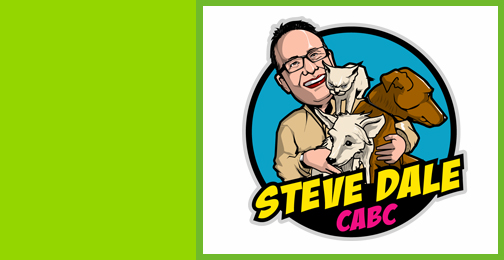 Vector Style Image of Steve Dale CABC with Pets